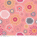 Gracie Girl Pink Large Flowers Yardage