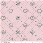 Country Girls Birds Pink Yardage