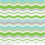 Little Ark Green Chevron Yardage