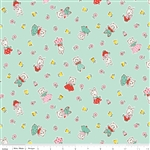 Milk Sugar Flower Milk Friends Mint Yardage