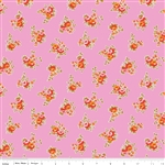Milk Sugar Flower Milk Floral Pink Yardage