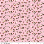Milk Sugar Flower Milk Magpie Pink Yardage