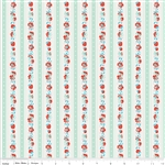 Milk Sugar Flower Milk Stripe Mint Yardage