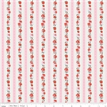 Milk Sugar Flower Milk Stripe Pink Yardage