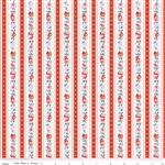 Milk Sugar Flower Milk Stripe Red Yardage