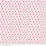 Milk Sugar Flower Milk Drops Pink Yardage