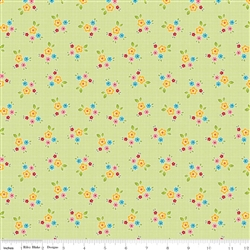 Bloom and Bliss Bloom Floral Green Yardage