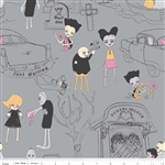 Zombie Love Main Gray Yardage by Riley Blake Designs <br/> C4960-Gray