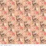 Woodland Main Coral Yardage