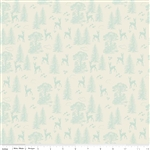 Woodland Friends Aqua Yardage