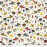 Rover Dog Park Cream Yardage