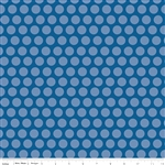 Rover Dot Blue Yardage