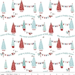 Pixie Trees White Yardage