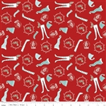 Pixie Socks Red Yardage