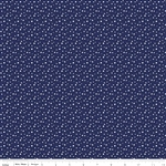 Pixie Snow Navy Yardage