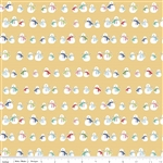 Cozy Christmas Snowmen Yellow Yardage