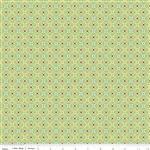 Cozy Christmas Wrapping Paper Green Yardage