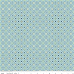 Cozy Christmas Wrapping Paper Blue Yardage