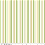 Cozy Christmas Stripe Green Yardage