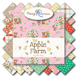 Apple Farm Half Yard Bundle includes