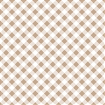Sew Cherry 2 Gingham Nutmeg C5808-Nutmeg by Lori Holt of A Bee in My Bonnet
