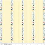 Bunnies and Cream Stripe Yellow