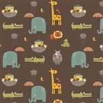Giraffe Crossing 2 Main Brown Yardage