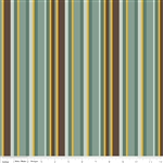 Giraffe Crossing 2 Stripe Teal Yardage