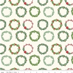 Comfort and Joy Wreaths Cream Yardage