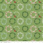 Comfort and Joy Wreaths Green Yardage