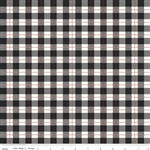 Comfort and Joy Black Plaid Yardage