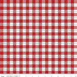 Comfort and Joy Red Plaid Yardage
