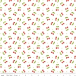 Glamper-licious White Cherries Yardage
