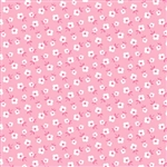 Fog City Kitty Coral Mini Deco Blossom Yardage
