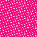 Fog City Kitty Red Mini Deco Blossom Yardage