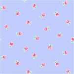 Pam Kitty Garden Periwinkle Apples Yardage