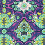 The Tortoise Yardage - Blue Raspberry By Tula Pink