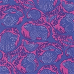 Slow & Steady Grandstand Yardage - Blue Raspberry By Tula Pink