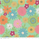 Flower Patch Mint Main Yardage