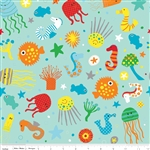 In the Ocean Main Teal Yardage