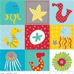 In the Ocean Friends Teal Yardage