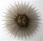 Vintage metal sculpture sunburst
