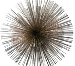 jere sunburst Vintage metal sculpture
