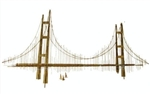 Vintage 1974 Jere Signed Golden Gate Bridge