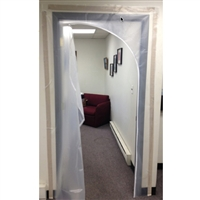 Fire Retardant Containment Zipper Door 5' X 7'