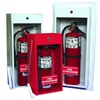 Fire Extinguisher Cabinet Surface Mount Economy, The CLASSIC Series cabinets are an economical choice for both commercial and aftermarket use. These surface mounted and semi-recessed cabinets offer a clean appearance and come  complete with breaker bar,