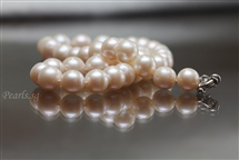 Pearl Bracelet - Double Wrapped Length in 9 mm