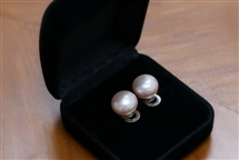 Pearl Stud Earring - 11 mm Lilac