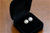 Pearl Stud Earring - 9 mm White