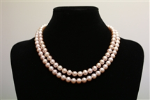 Necklace - Double Strand Lilac 7 mm